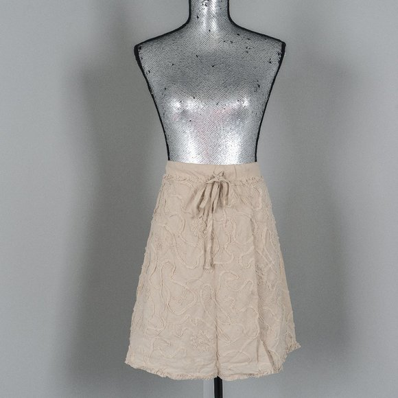 NWT Max Studio Linen ribbon skirt